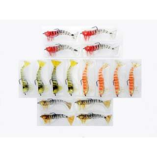 16 Kevlar Live Prawns 90mm Mixed Colour Pack